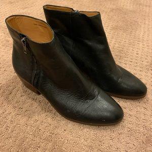 J. Crew black leather boots, sz 10
